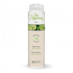 Bio passion hab- és tusfürdő gél lime-zöld tea - 200 ml
