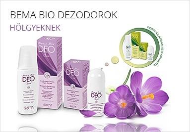 Hosszan tartó hatású Bema bio dezodorok hölgyeknek.